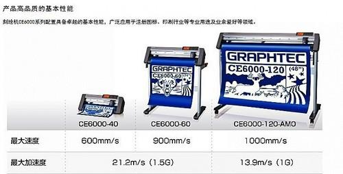 GRAPHTEC ce6000-120 fc8600 cutting potter 日图3M反光膜刻绘机