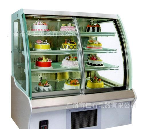 蛋糕展示柜廠家 圓弧前開   Cake display cabinet manufacturers